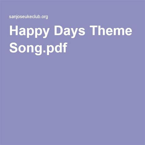 theme song happy days 17 best images about music on pinterest quotes about