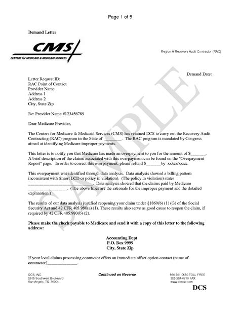 Demand Letter Medicare Best Photos Of Medicare Demand Letter Medicare Demand Letter Demand Letter Sle And
