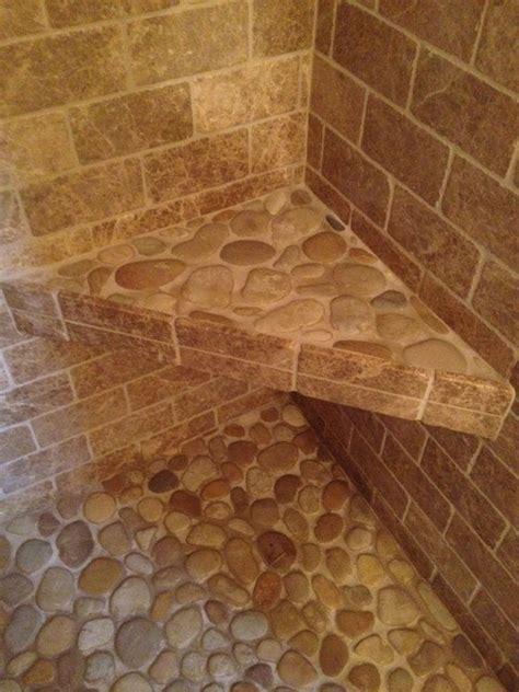 small bathroom ideas travatine tile river rock design travertine pebble bathroom modern bathroom boston