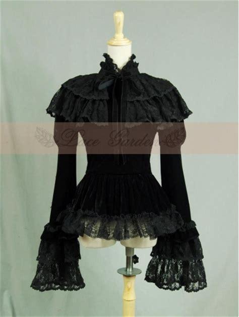 Bloomings Jumbo Ribbon Hitam Blouse black velvet sleeves lace cape blouse devilnight co uk