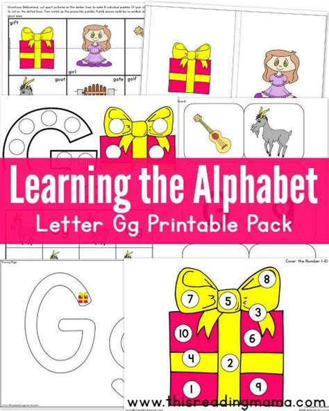 printable games for learning the alphabet 44 best g is for images on pinterest preschool