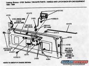 Ford Tailgate Parts 1986 Ford Bronco Tailgate Picture Supermotors Net