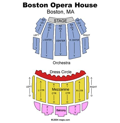 Green Day S American Idiot January 29 Tickets Boston Boston Opera House Seating Plan