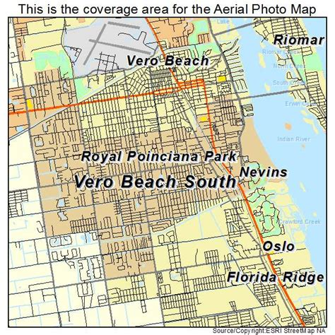 aerial photography map of vero south fl florida