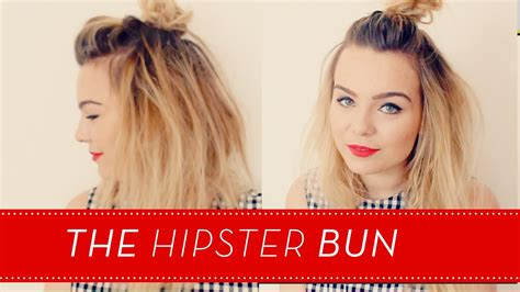 hipster hair tutorial the hipster bun short hair tutorial lily melrose