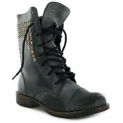 Red combat boots women boots glam 80s zipper