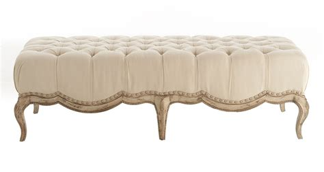 cream tufted ottoman milania tufted ottoman in cream decoist