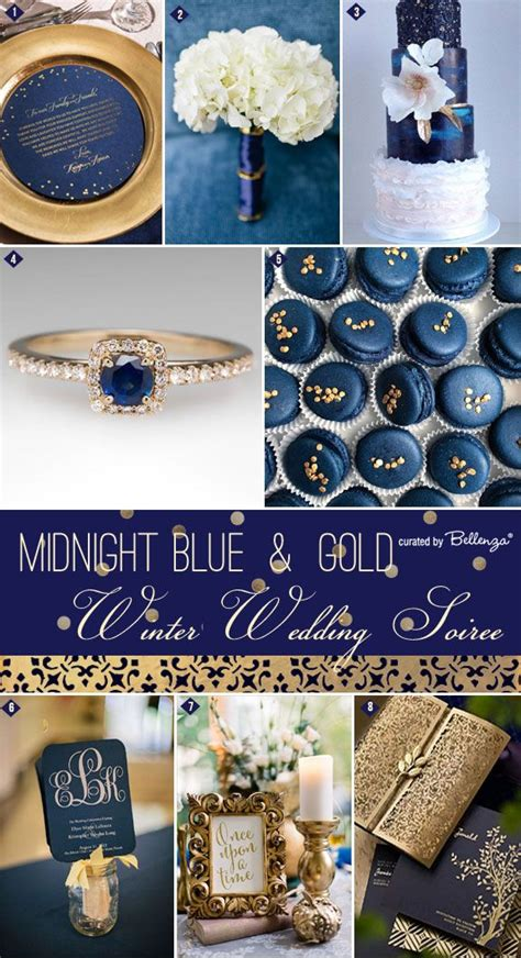 blue and gold wedding theme project royale