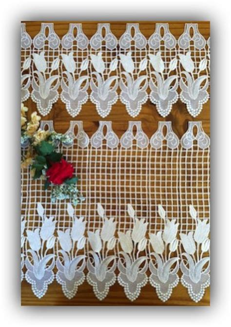french macrame lace curtains flower french lace curtains quality macrame tiers and