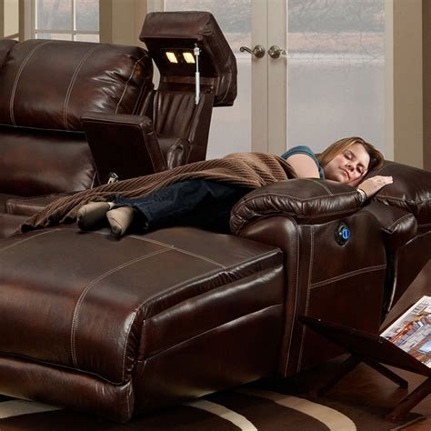 Leather Reclining Sofa With Chaise Homeofficedecoration Leather Sectional Sofa Chaise Recliner