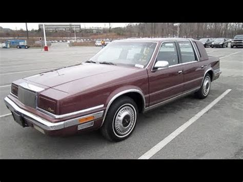 how cars engines work 1993 chrysler fifth ave transmission control 1990 chrysler new yorker fifth avenue start up engine and in depth tour youtube
