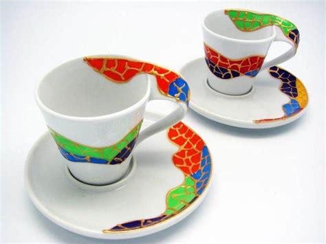 Mug Souvenir Set white porcelain coffee set juego de caf 233 pintado a mano gaud 237 souvenir barcelona