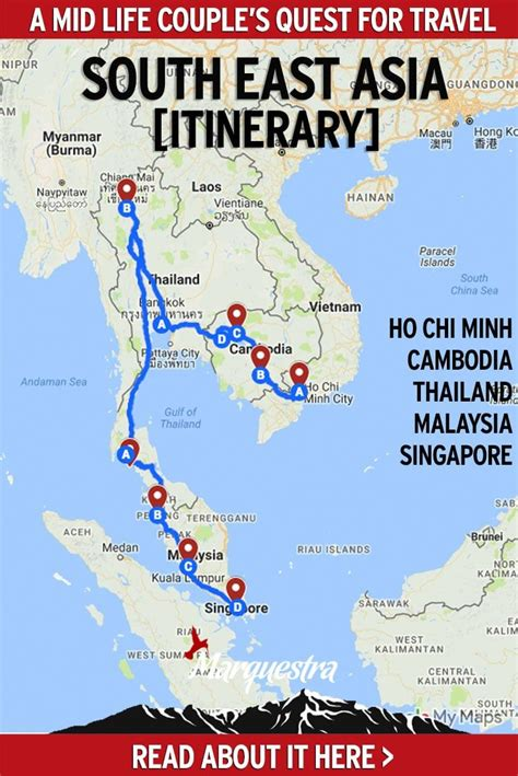 southeast asia itinerary  months asia travel