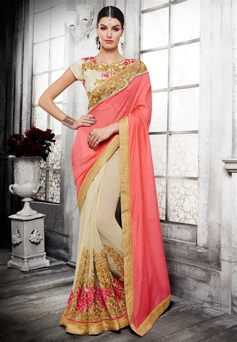 half saree draping half half sarees designs varieties history and more