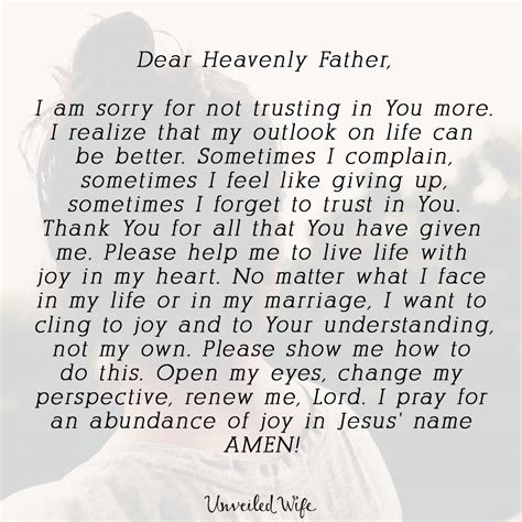 Apology Letter To For Not Trusting Prayer Of The Day Reside In My