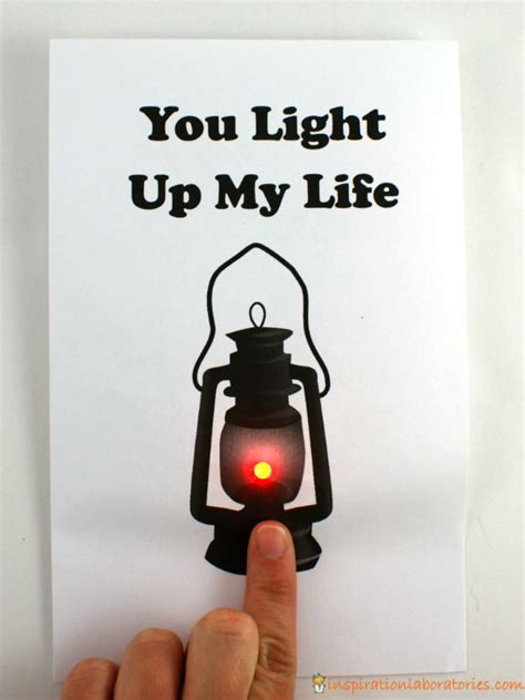 Happy S Day Light Up Card Template push button light up card inspiration laboratories