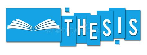 dissertation blues thesis blue stripes with book icon stock illustration