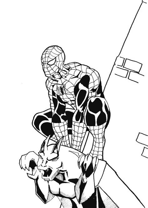 free coloring pages of spiderman electro