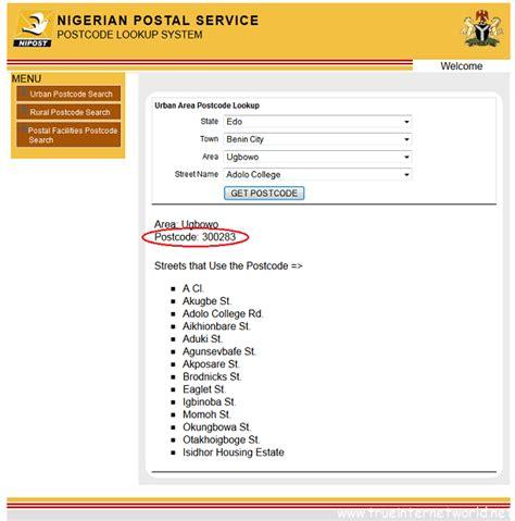 adsense zip code how to find nigeria zip postal codes for cities streets