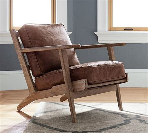 pottery barn leather armchair raylan leather armchair pottery barn