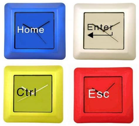 Escape With Command Key Wallclocks by Computer Command Clocks For True Technophiles Hometone