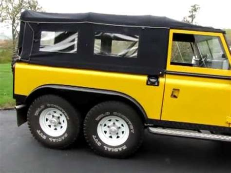 6 wheel drive land rover defender 6x6