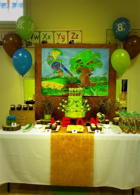 zelda themed birthday party legen of zelda party dessert table visit www temaparty