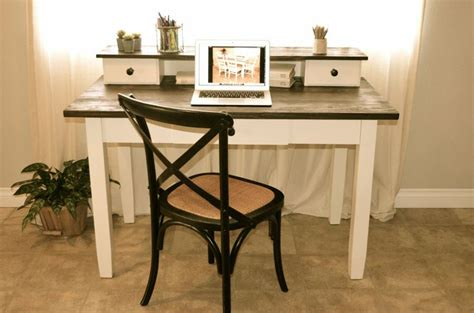farmhouse style computer desk pin by analia pastori on quot the workshop quot painted and