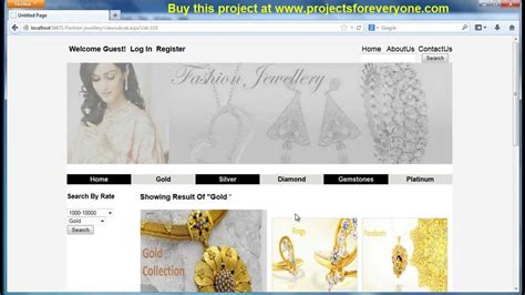html design in asp net online jewellery shopping website project in asp net with