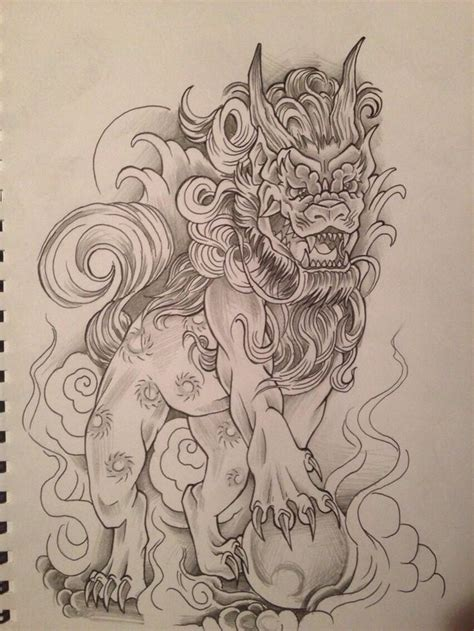 foo dog tattoo design foo design by relentless giff tattooss