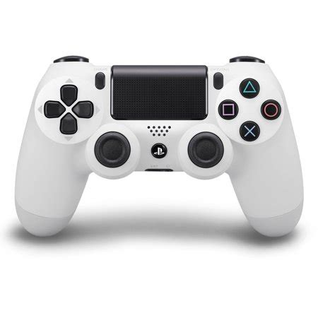 sony dualshock 4 controller, glacier white (ps4) walmart.com