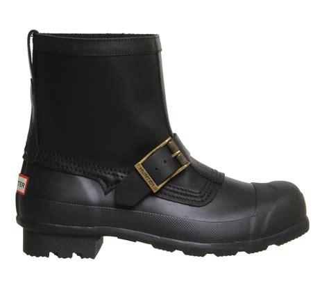 Original Blackmaster Low Boots Wings Black original biker black boots