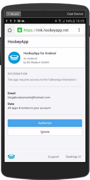 hockeyapp for android deploying xamarin apps to devices using hockeyapp