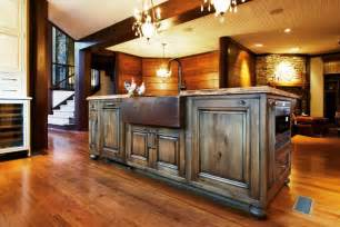 reclaimed wood kitchen island design ideas amp bath rustic barn ecustomfinishes