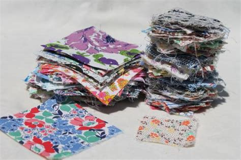 Patchwork Pieces - authentic vintage fabric prints charm square quilt block