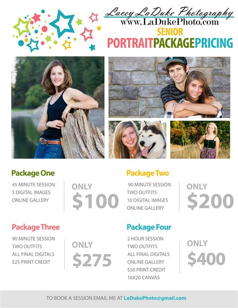 Eugene Senior Portrait Photographer Pricing And Specials Photography Booth Ideas Pinterest Senior Portrait Pricing Guide Template