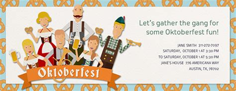 oktoberfest party online invitations evite com