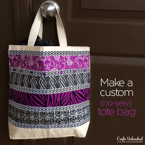 Personalized Handmade Bags - tote bag tutorial pretty no sew custom gifts