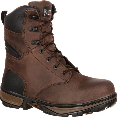 rocky work boots for s brown steel toe waterproof work boots rocky forge