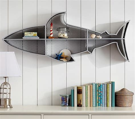 shark home decor shark shelf pottery barn kids