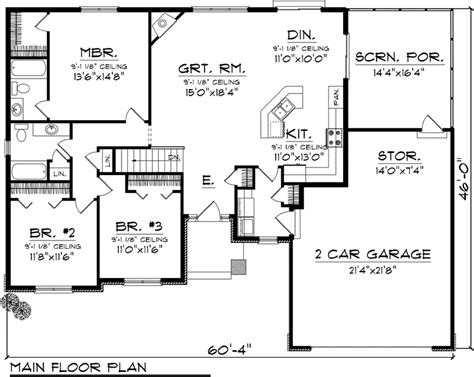 open concept ranch house plans open concept floor plans ranch first floor plan of ranch house plan