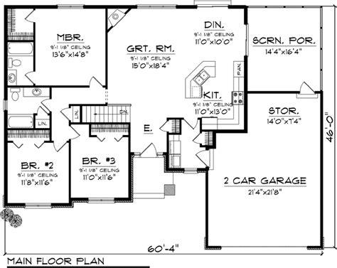 simple ranch floor plans open concept ideas photo house plans