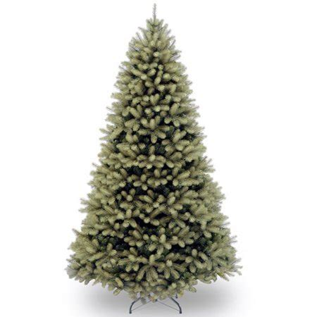 walmart real christmas trees national tree unlit 7 quot feel real quot swept douglas fir hinged artificial tree