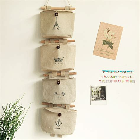 practical jute letters bedroom home wall hanging storage bag organiser 5 pockets ebay hanging wall storage pockets best storage design 2017