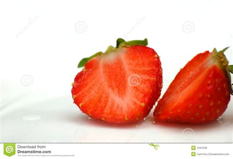 Hiltons Time Cut In Half by Deliciously Strawberry Cut Into Half Stock Image