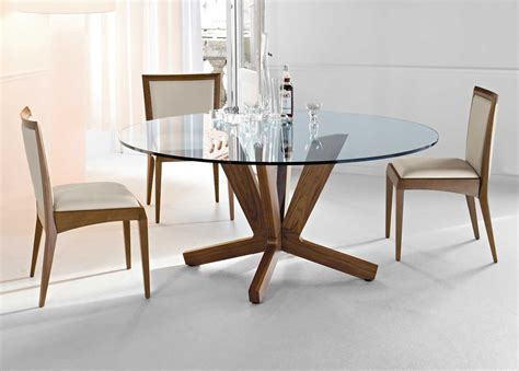 glass modern round dining table : Decorating Dining Room With Modern Round Dining Table