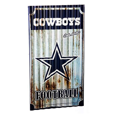 dallas cowboys corrugated metal wall home decor