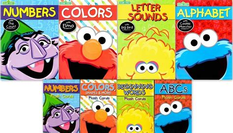 sesame educational flashcards colors shapes more with abby cadabby books sesame early learning bundle flash cards work books