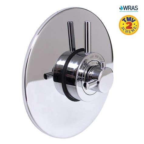 Bathroom Shower Valves Modern Concealed Concentric Solid Brass Dual Thermostatic Bathroom Shower Mixer Valve 1 Outlet 2