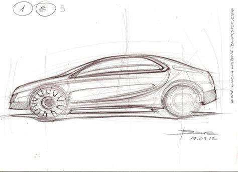 sketch side view car sketch tutorial the side view by luciano bove